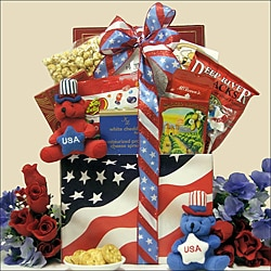 American Pride Patriotic 4th of July Gourmet Gift Basket