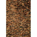 Hand-tufted Tilton Brown/ Burnt Orange Shag Rug (5' x 7'6)