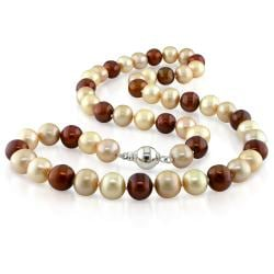 Miadora Multi-colored Freshwater Pearl 18-inch Necklace (8-8.5 mm)
