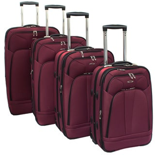 Kemyer Purple Berry 4-piece Expandable Upright Luggage Set
