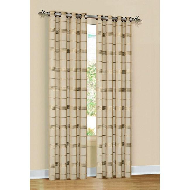 Beige Faux Linen Bayside 84-inch Grommet Window Panel