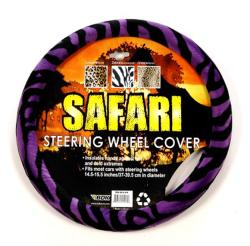 Oxgord Safari Purple and Black Zebra Steering Wheel Cover