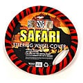 Oxgord Safari Red and Black Zebra Steering Wheel Cover