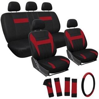 Oxgord Red 17-piece Car Seat Cover Automotive Set