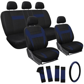 Oxgord Blue 17-piece Car Seat Cover Automotive Set