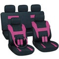 Pink 16-piece Car Seat Cover Automotive Set