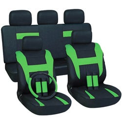 Green 17-piece Car Seat Cover Automotive Set