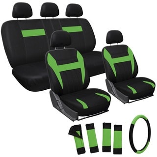 Oxgord Green 17-piece Car Seat Cover Automotive Set
