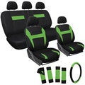Oxgord Green 17-piece Car Seat Cover Automotive Set