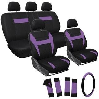 Oxgord Purple 17-piece Car Seat Cover Automotive Set