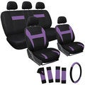 Purple 17-piece Car Seat Cover Automotive Set