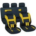 Yellow 17-piece Car Seat Cover Automotive Set