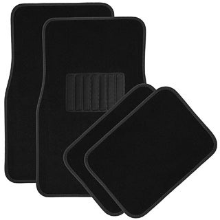 Oxgord Black Carpet Front and Rear Floor Mat Set