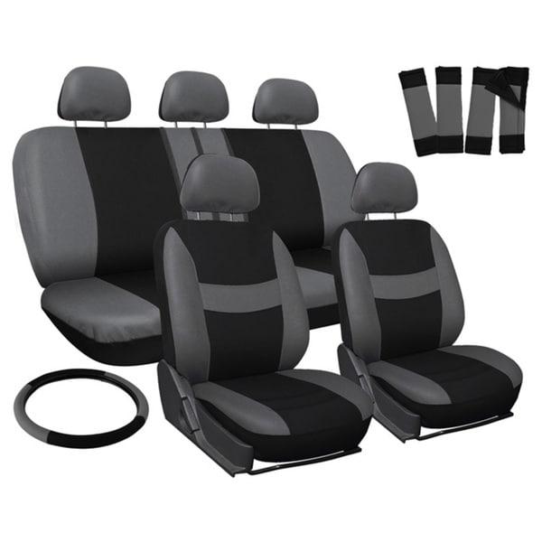 Oxgord Grey 17-piece Car Seat Cover Automotive Set