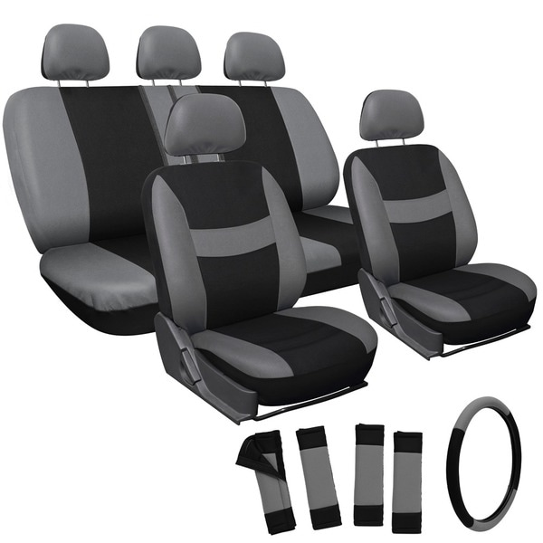 Oxgord Grey 17-piece Car Seat Cover Automotive Set