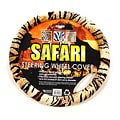 Safari Beige and Black Tiger Steering Wheel Cover