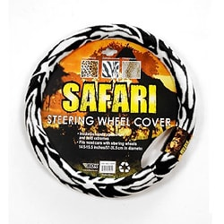 Oxgord Safari White Tiger Steering Wheel Cover