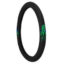 Black Rubberized Hulk Steering Wheel Cover