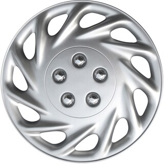 Silver kT85817S_L Design 17-inch ABS Hub Caps (Set of 4)