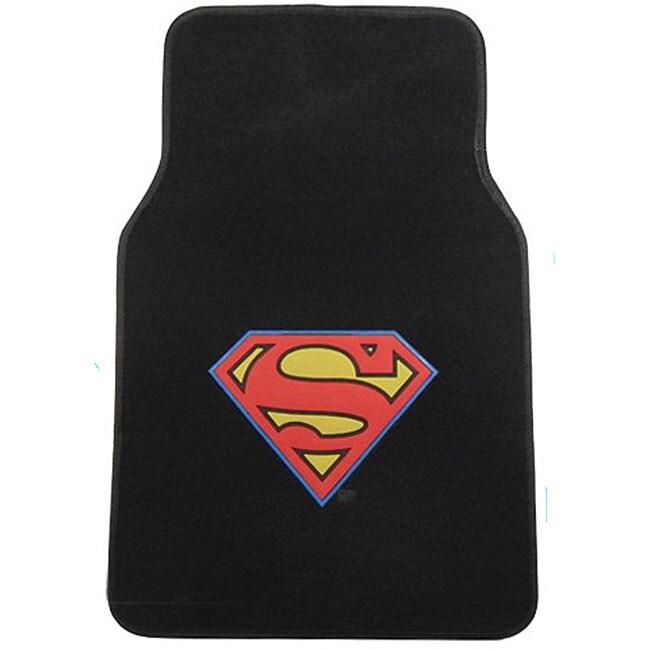 Superman Floor Mats 4-piece Carpet Rug Set