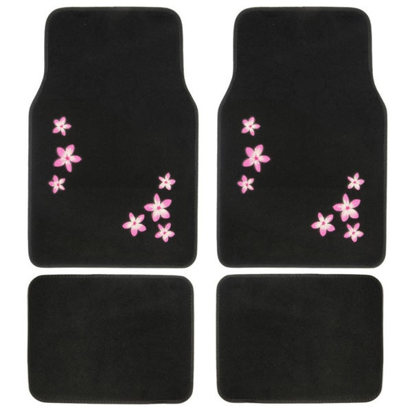 Flora 4-piece Carpet Floor Mat Set