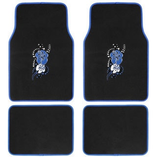 Hawaii Blue 4-piece Carpet Floor Mat Set