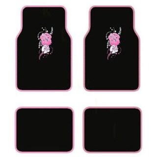 Hawaii Pink 4-piece Carpet Floot Mat Set