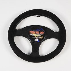 Black Memory Foam Quilt Steering Wheel Cover