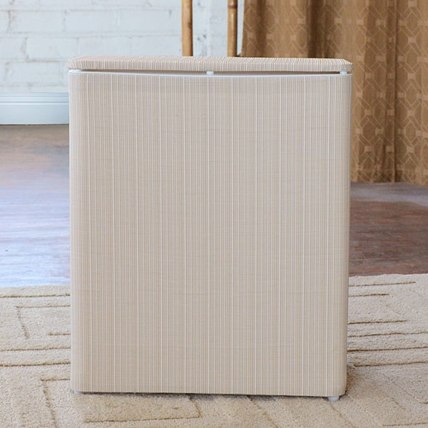 1530 LaMont Home White/ Ivory Raine Upright Hamper