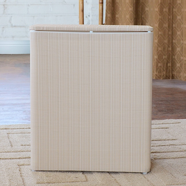 1530 LaMont Home White/ Ivory Raine Upright Hamper at Sears.com