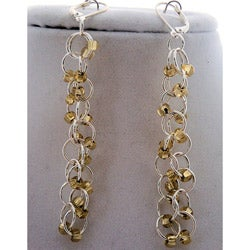 Gold and Silver Chain Maille Earrings