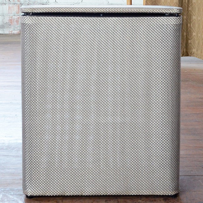LaMont Home Basketweave Silver Upright Hamper