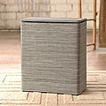 Sage/ Brown Cambria Upright Hamper