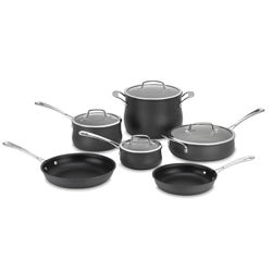Cuisinart 10-piece Black Contour Hard Anodized Cookware Set