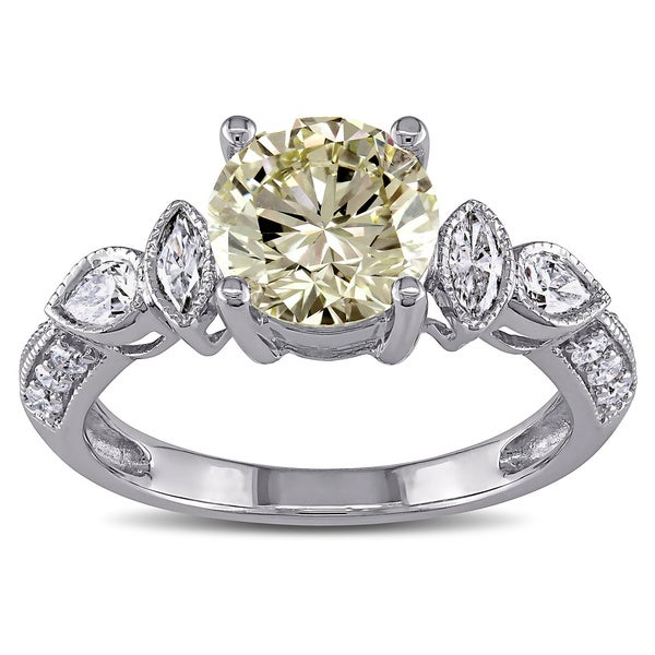 Miadora Signature Collection 14k Gold 2 1/3ct TDW Certified Vintage Diamond Ring (VS1, GIA)