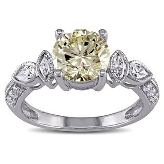Shira Design 14k Gold 2 1/3ct TDW Certified Vintage Diamond Ring (H-I, I1-I2)