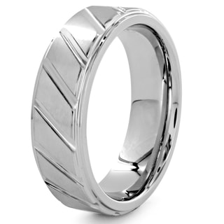 Cobalt and Tungsten Diagonal Groove Ring