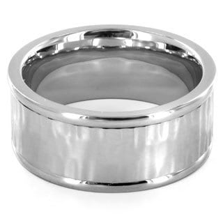 Stainless Steel Wavy Center Ring