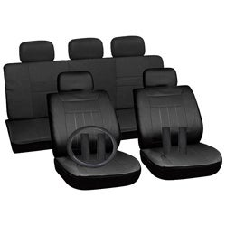 Black 17-piece Car Seat Cover Automotive Set