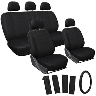 Oxgord Black 17-piece Car Seat Cover Automotive Set