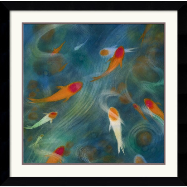 Lun Tse 'Koi Zen 1' Framed Art Print