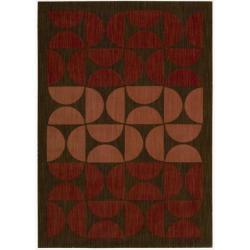 Nourison Calvin Klein Home Metropolitan Red Rug (3'6 x 5'6)