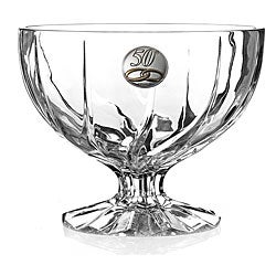 Fiftieth Anniversary Crystal Pedastal Bowl from the Trix Collection by RCR Italy