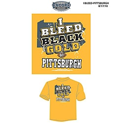 NFL Licensed Men's 'I Bleed Black and Gold' Pittsburgh Gold T-shirt