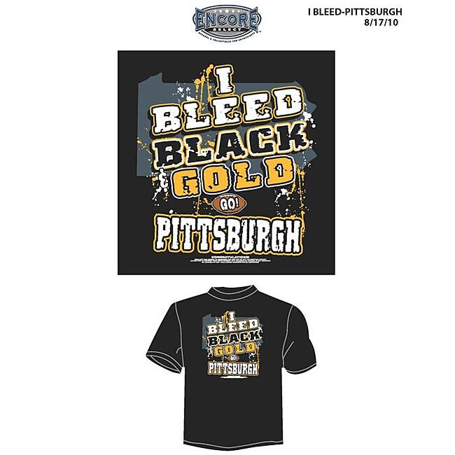 Pittsburgh Football Men's 'I Bleed Black and Gold' T-shirt