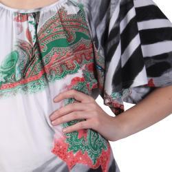 Tressa Designs Machine-Washable Women's Pleated Scoop Neck Short-Sleeve Top