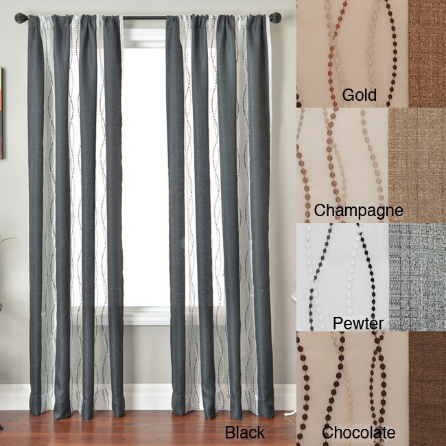Vastitude Stripe Rod Pocket 96-inch Curtain Panel at Sears.com