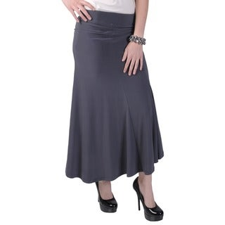Tressa Designs Women's Elastic Waist Flare Panel Skirt