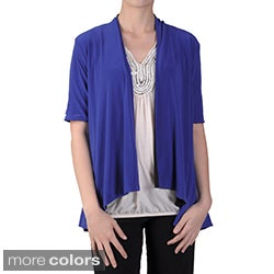 Tressa Designs Women's Stretchy Open Front Reversible Cardigan