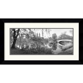 Bruce Davidson 'The Lake and Bow Bridge, Central Park, 1992' Framed Art Print